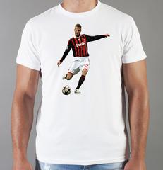 Футболка с принтом Дэвид Бекхэм (David Beckham) белая 005