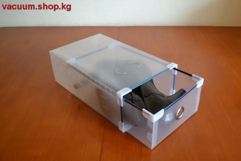 Набор из 24 пластиковых коробок 31*20*11 см для обуви до 42 размера