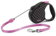 Поводок-рулетка Flexi Color M (до 20 кг) трос 5 м розовая