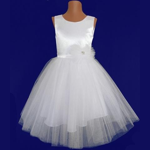 Платье пышное белое для малышек