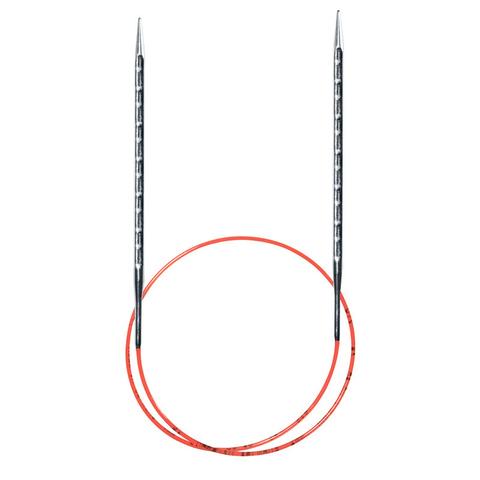 Спицы металлические круговые супергладкие с квадратным кончиком AddiNovel, №6 , 40 см.