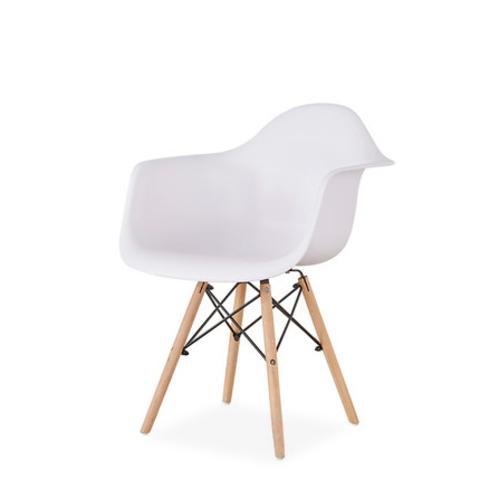Стул-кресло DAW Eames by Vitra (белый)