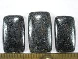 Комплект кабошонов гематита 25x15x4 мм - 2 шт., 27x17x5 мм - 1 шт.
