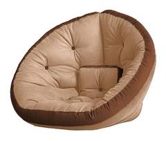 Кресло Farla Lounge Бежевое с коричневым