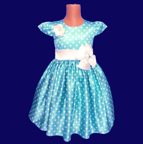 Платье в голубое в горох с крылышками