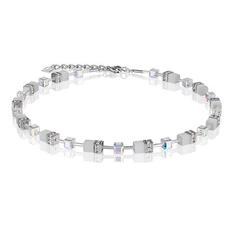 Колье Coeur de Lion 4322/10-1400 цвет белый, серебряный, прозрачный