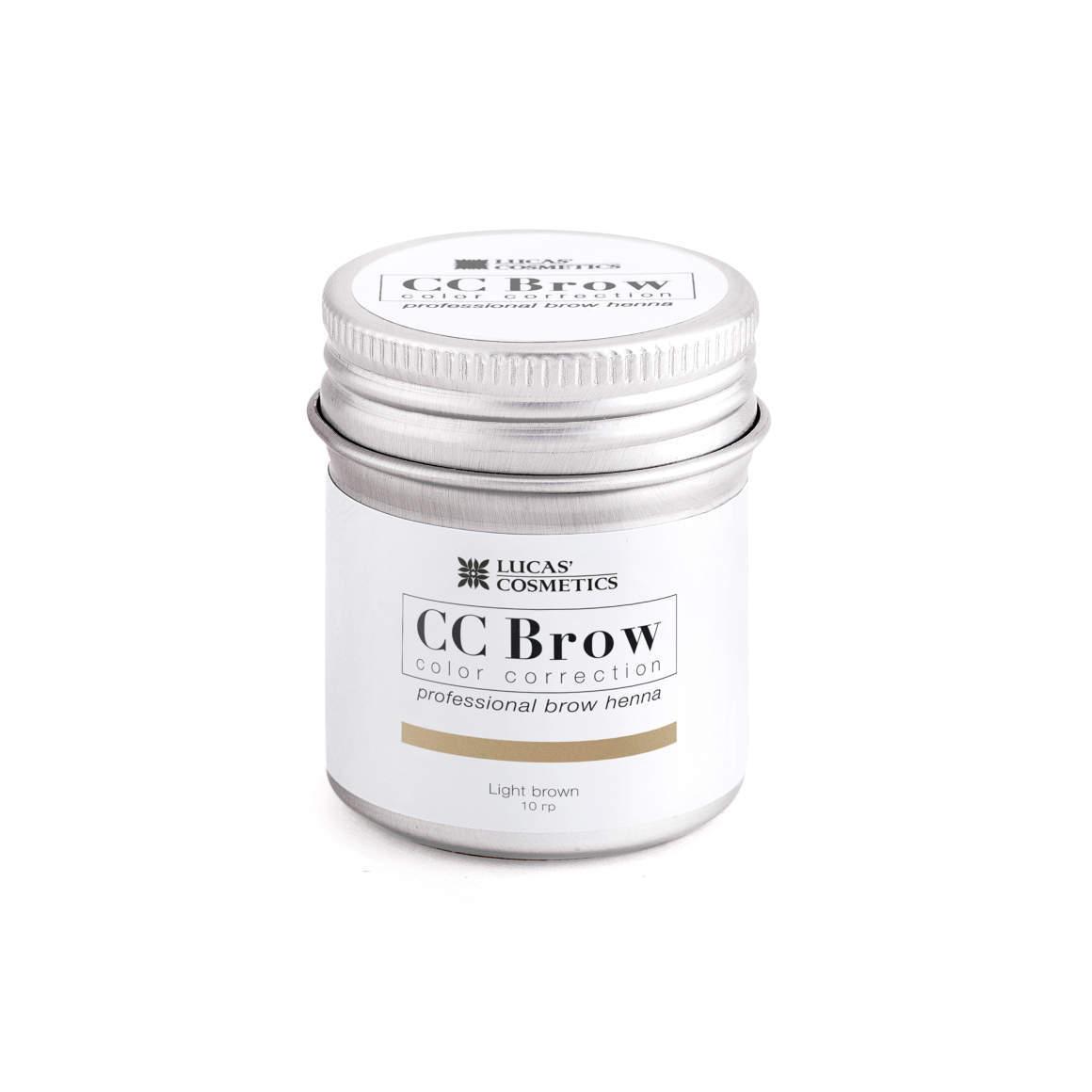 Хна для бровей CC Brow 5гр в баночке Light Brown Светло-коричневый
