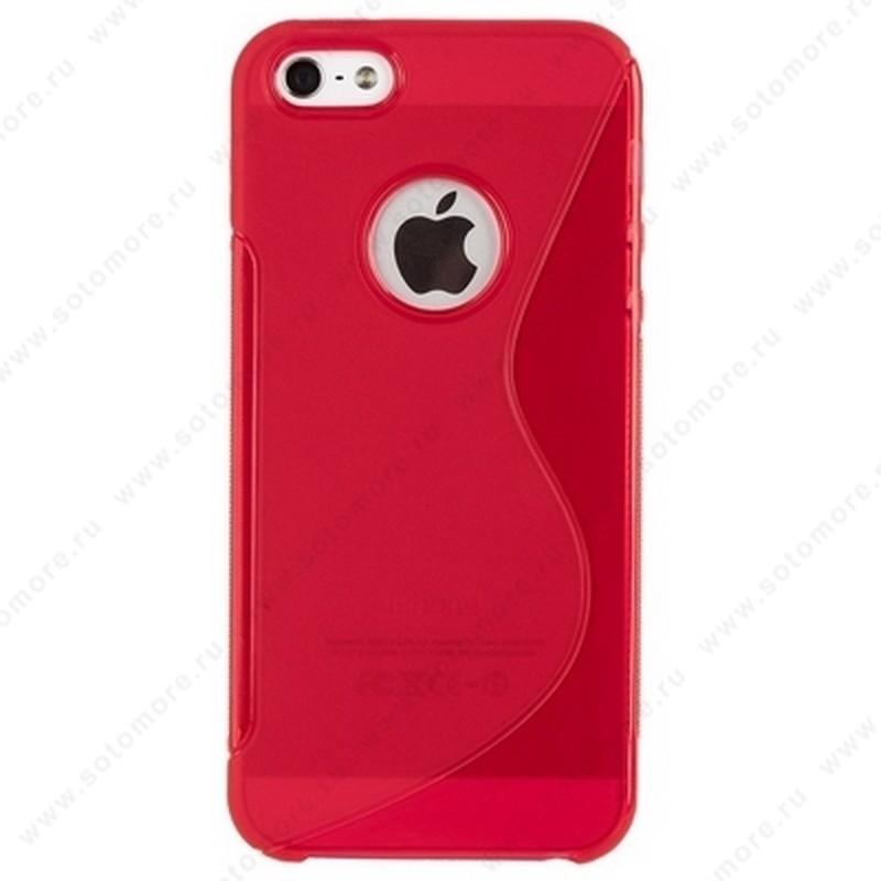 Накладка силиконовый для Apple iPhone SE/ 5s/ 5C/ 5 жесткий розовый