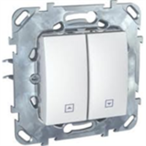 Выключатель для жалюзи с фиксацией. Цвет Белый. Schneider electric Unica. MGU5.208.18ZD