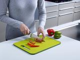 Доска разделочная с ножеточкой Slice & Sharpen™ большая 37 х 27 см, зеленая Joseph Joseph 60027 | Купить в Москве, СПб и с доставкой по всей России | Интернет магазин www.Kitchen-Devices.ru