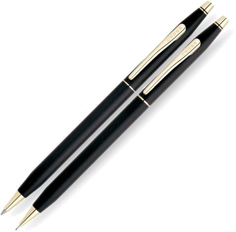 Набор подарочный Cross Сentury Classic  (250105) Black Matte GT шариковая ручка + карандаш