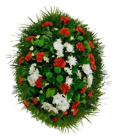 Траурный венок из живых цветов ВЖ 19
