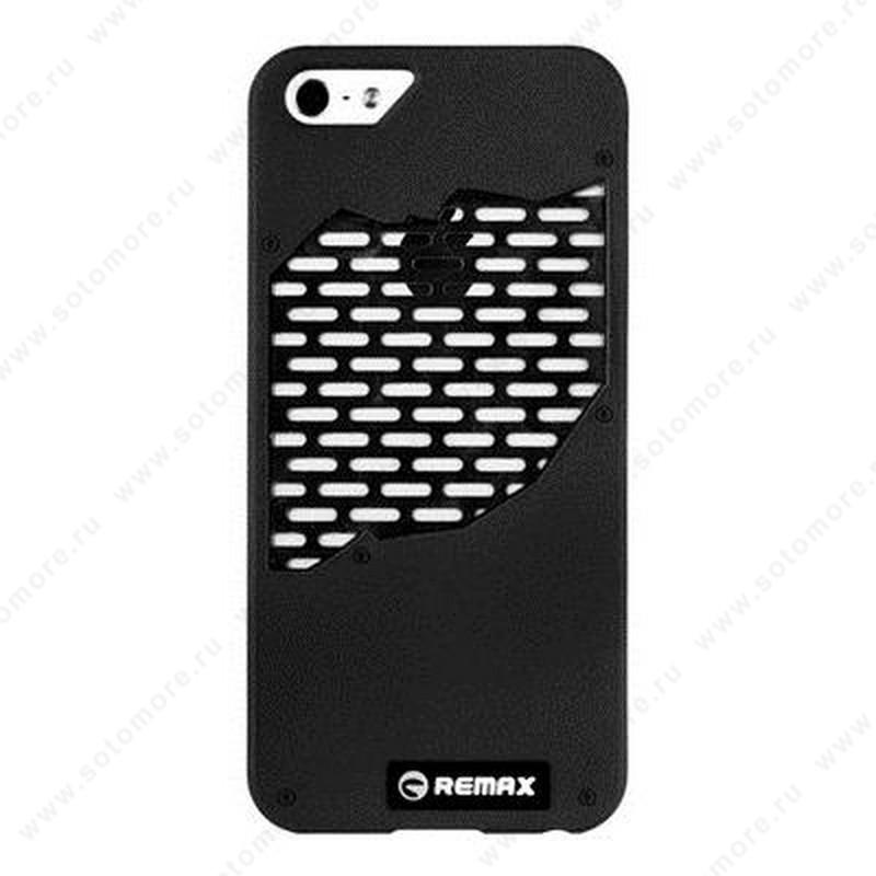 Накладка REMAX для iPhone SE/ 5s/ 5C/ 5 с решеткой серая