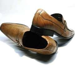 Коричневые туфли лоферы Mariner 12211 Light Brown