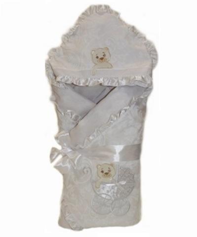 Зимний конверт на выписку из роддома Newborn белый