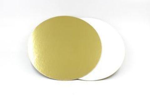 Подложка усиленная двухсторонняя, 1,5 мм (золото/жемчуг), диаметр 18 см