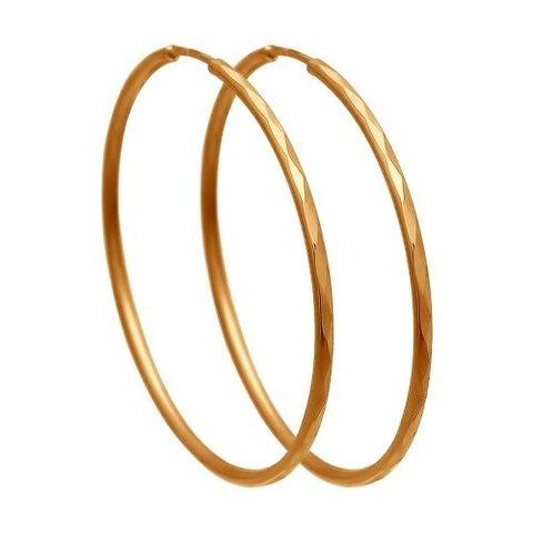 140007-Золотые серьги-конго от SOKOLOV Ø 20 мм