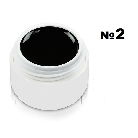Моделирующий гель-пластилин для декоративного дизайна 7гр. №2 Чёрный