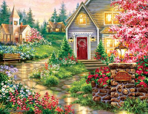 Алмазная Мозаика 40x50 Путь к уютному дому