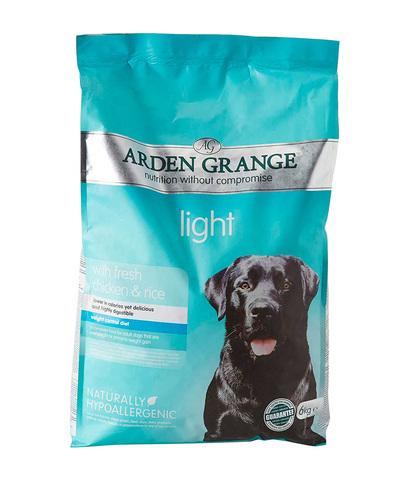 Arden Grange Adult Light сухой корм для собак склонных к полноте (с курицей и рисом) 12 кг
