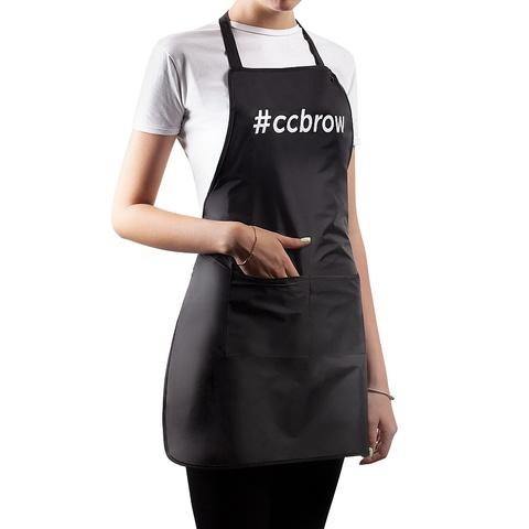 Фартук CC Brow, длина 76 см, черный, нейлон