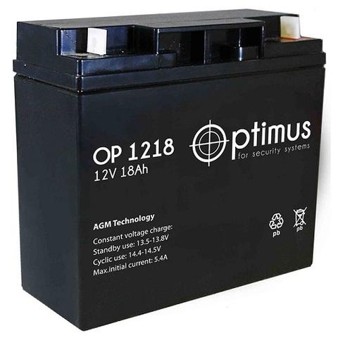 OP 1218 аккумулятор 12В/18Ач Optimus