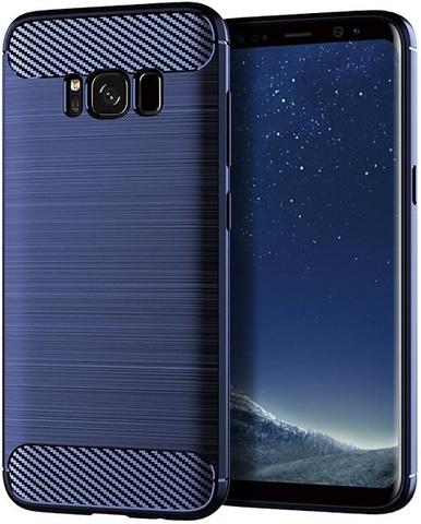Чехол Samsung Galaxy S8 Plus цвет Blue (синий), серия Carbon, Caseport