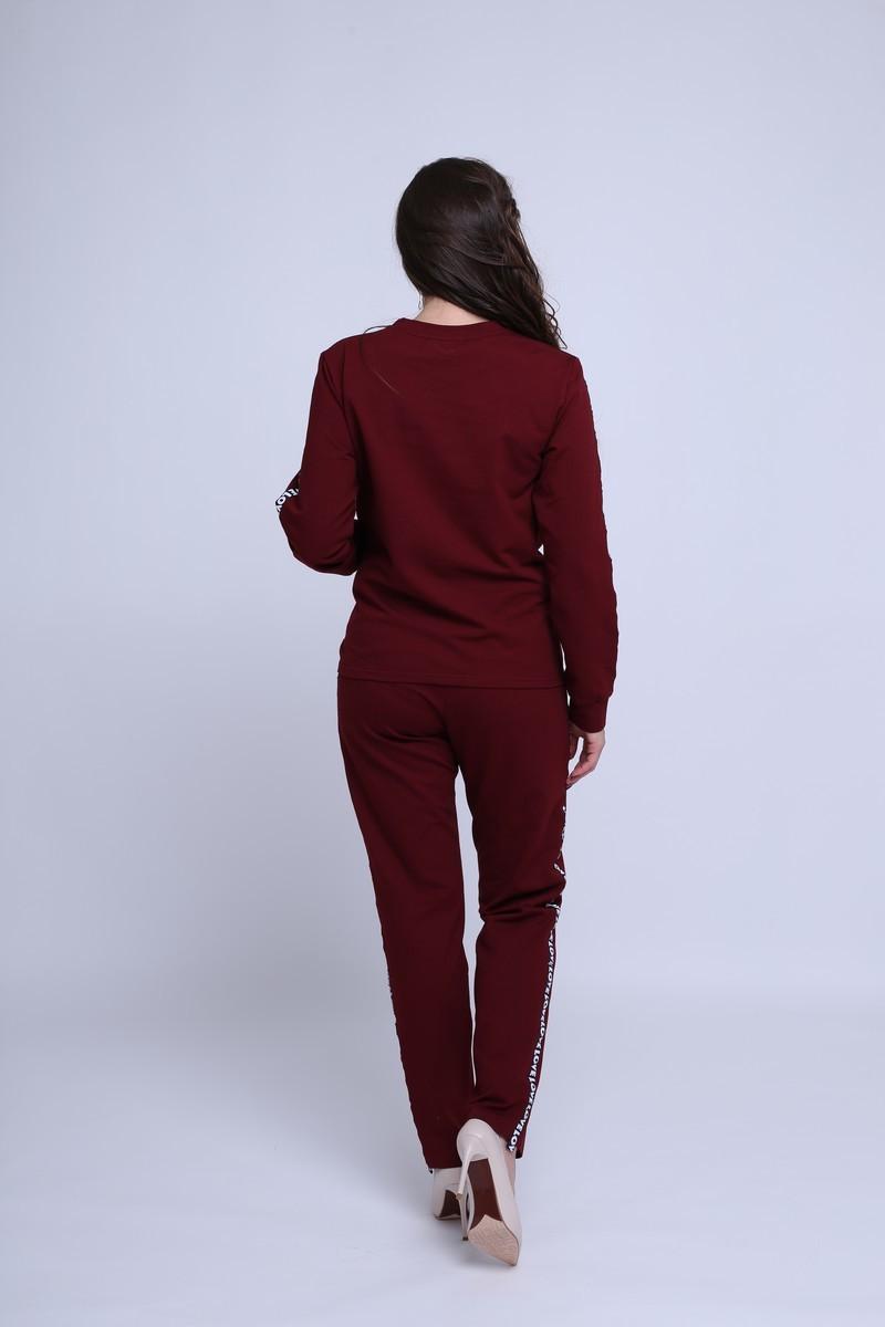 Спортивный костюм для беременных и кормящих 09546 бордовый