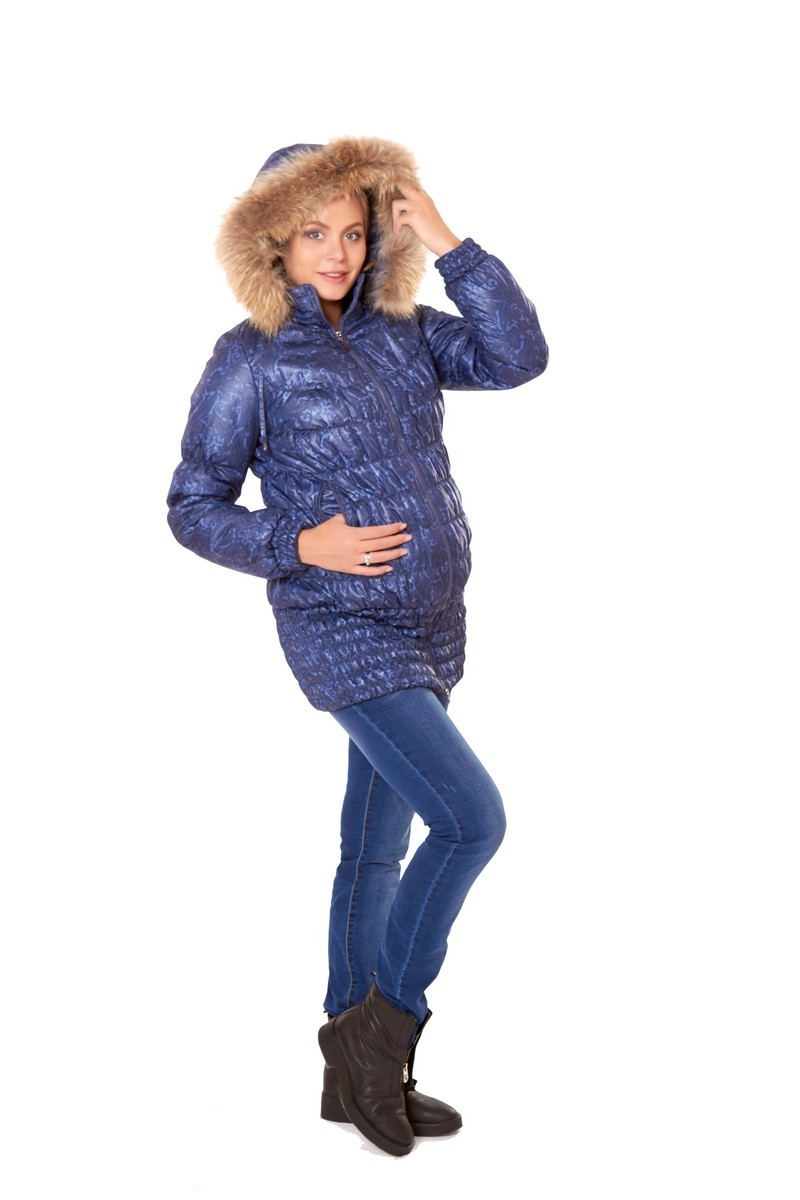 Слингокуртка для беременных 04916 синий