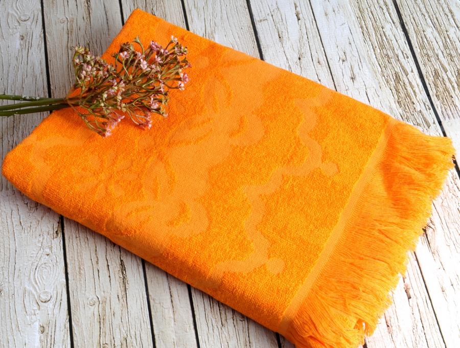 Полотенца для бани и сауны DAISY  Turkuaz (голубой)  полотенце пляжное бамбуковое  IRYA (Турция) DAISY_Oranj__оранжевый_.jpg