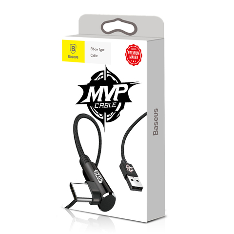 Кабель Baseus MVP Elbow Type Cable USB For Type-C 2A 1M Black