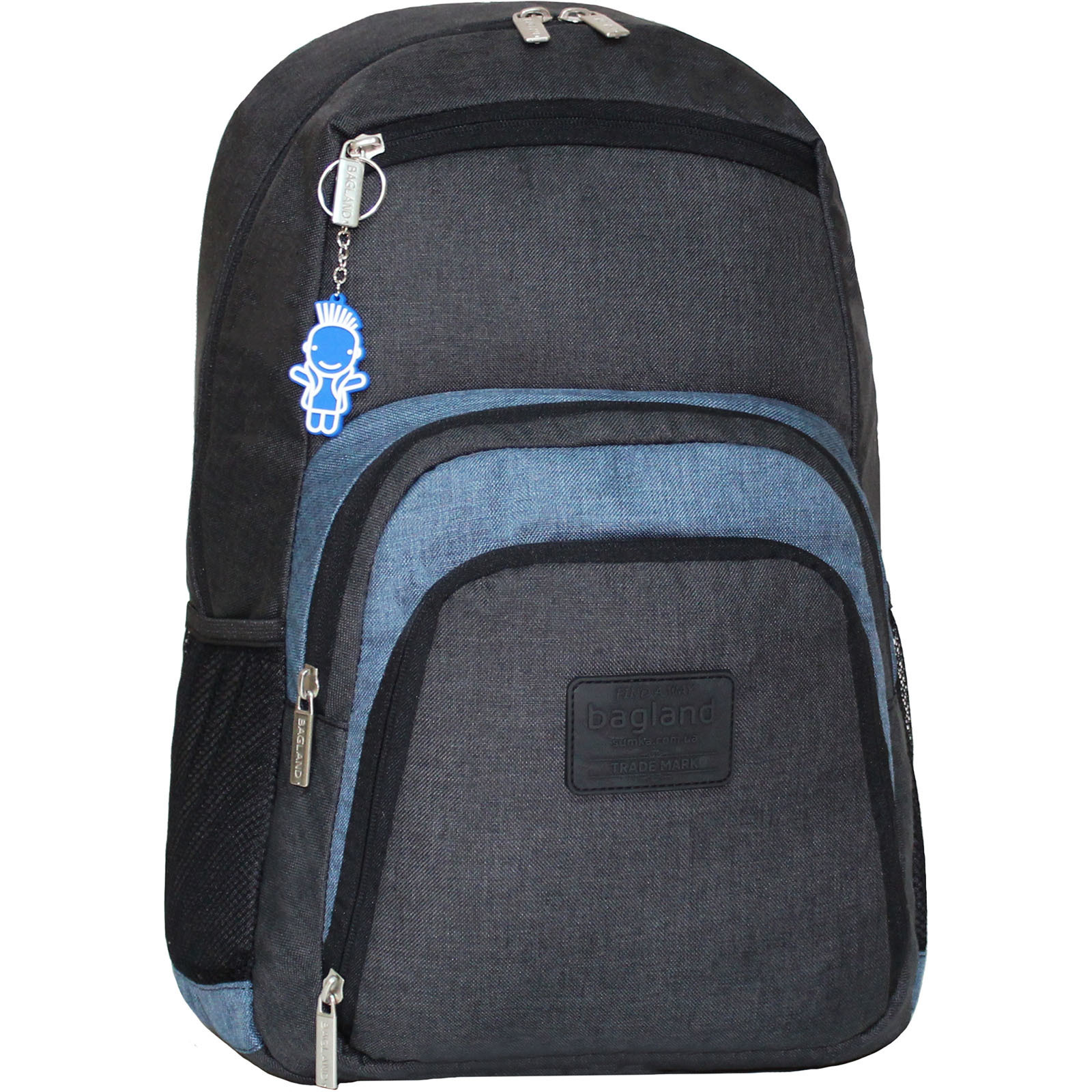 Городские рюкзаки Рюкзак для ноутбука Bagland Freestyle 21 л. черный/серый (0011969) IMG_2105.JPG