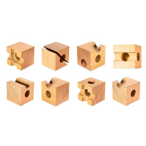 Qubidoo - развивающий конструктор  9 элементов, модель 1