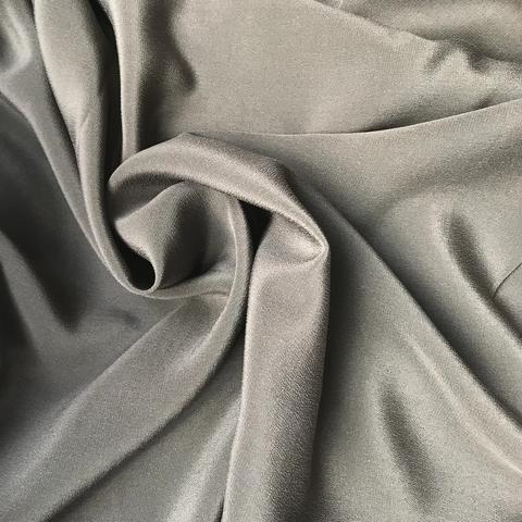 Крепдешин темно-серый  с эластаном 1112