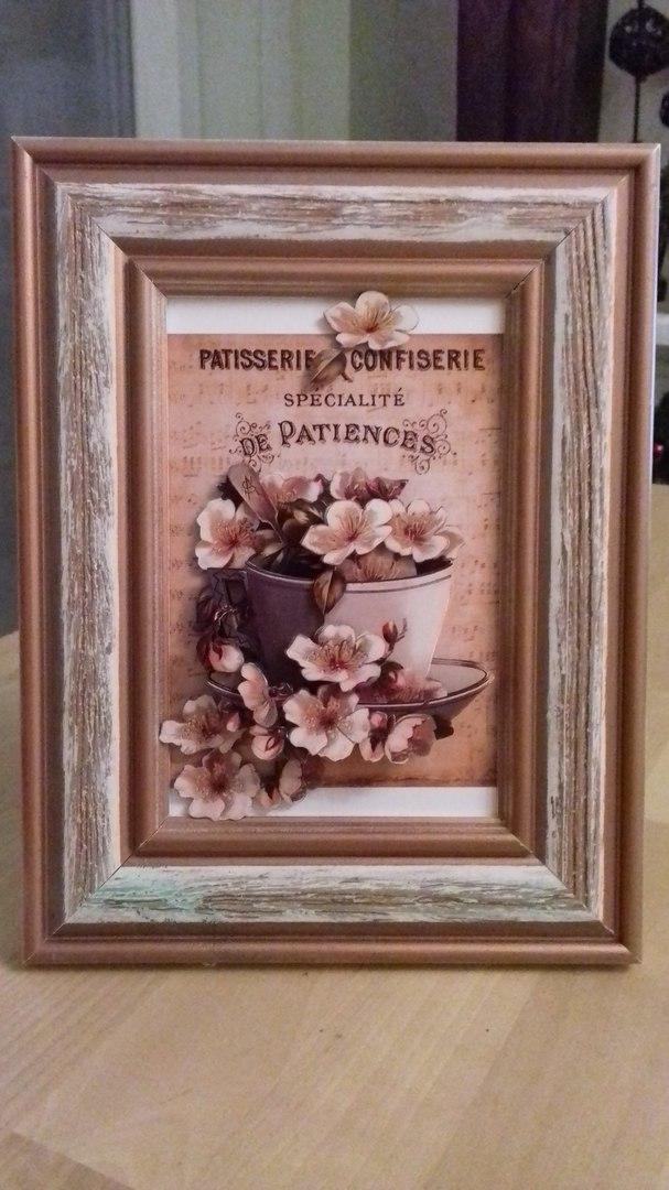 Папертоль Винтажный этюд — другой пример оформленной работы.