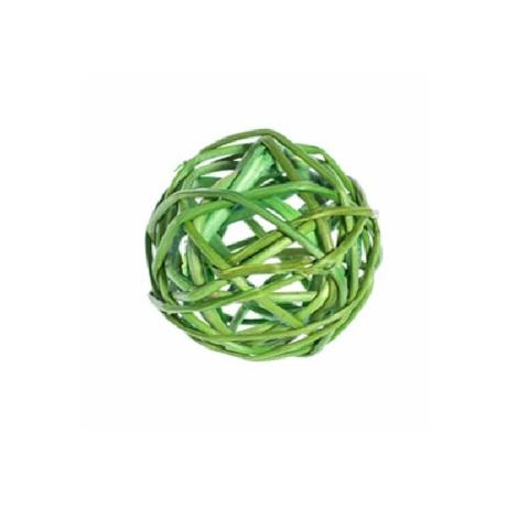 Плетеные шары из ротанга (набор:12 шт., d3см, цвет: зеленое яблоко)