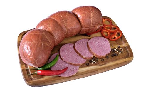 Колбаса варёно-копчёная салями
