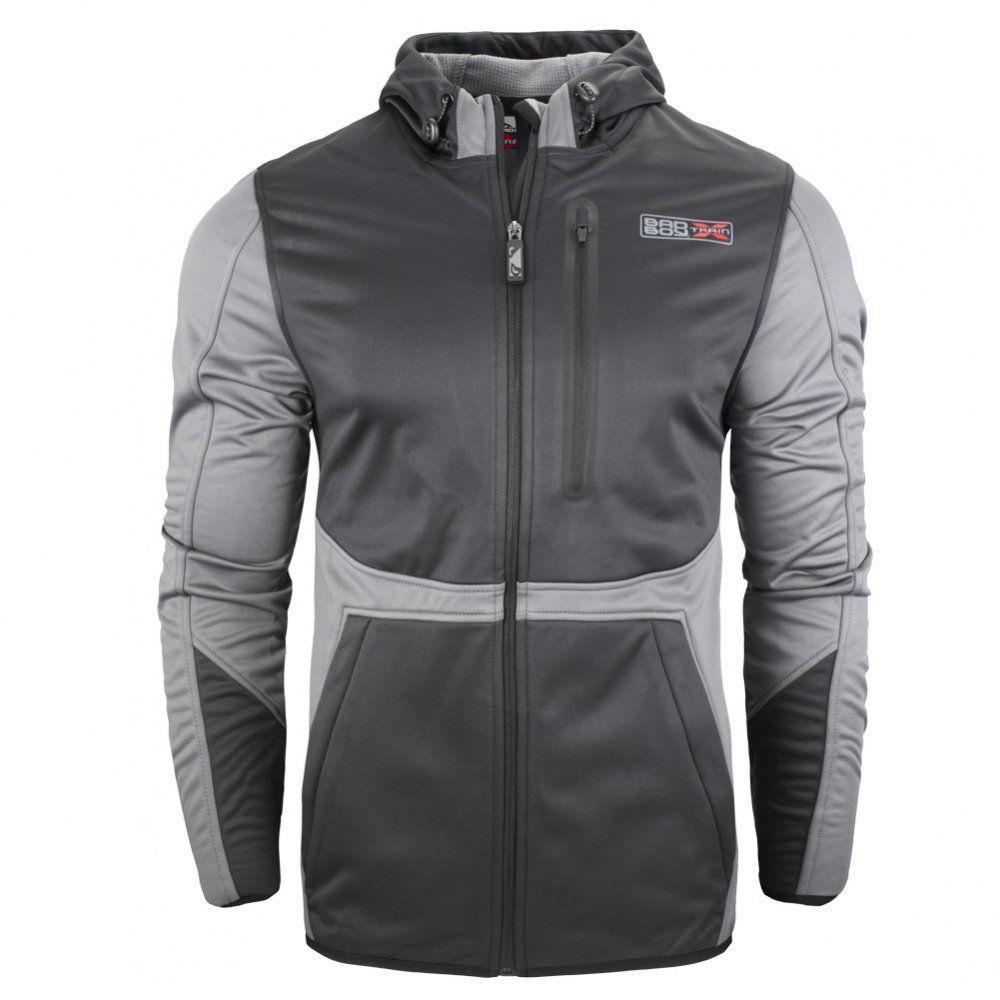 Толстовки/Олимпийки Куртка Bad Boy X-Train Bonded Jacket - Black/Grey 1.jpg