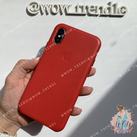 Чехол iPhone XR good Leather Case (product) /red/