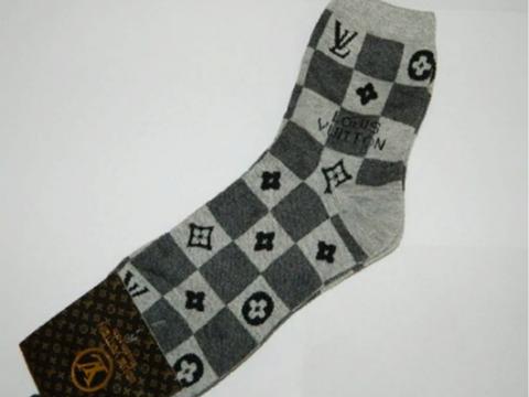 Мужские носки серые LOUIS VUITTON