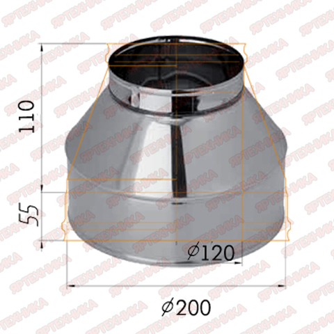 Конус d120х200мм (430/0,5 мм) Ferrum