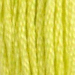 Нитки  мулине DMC хлопок Желто-салатовый 12