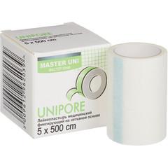 Пластырь фиксирующий Master Uni 5x500 см нетканая основа