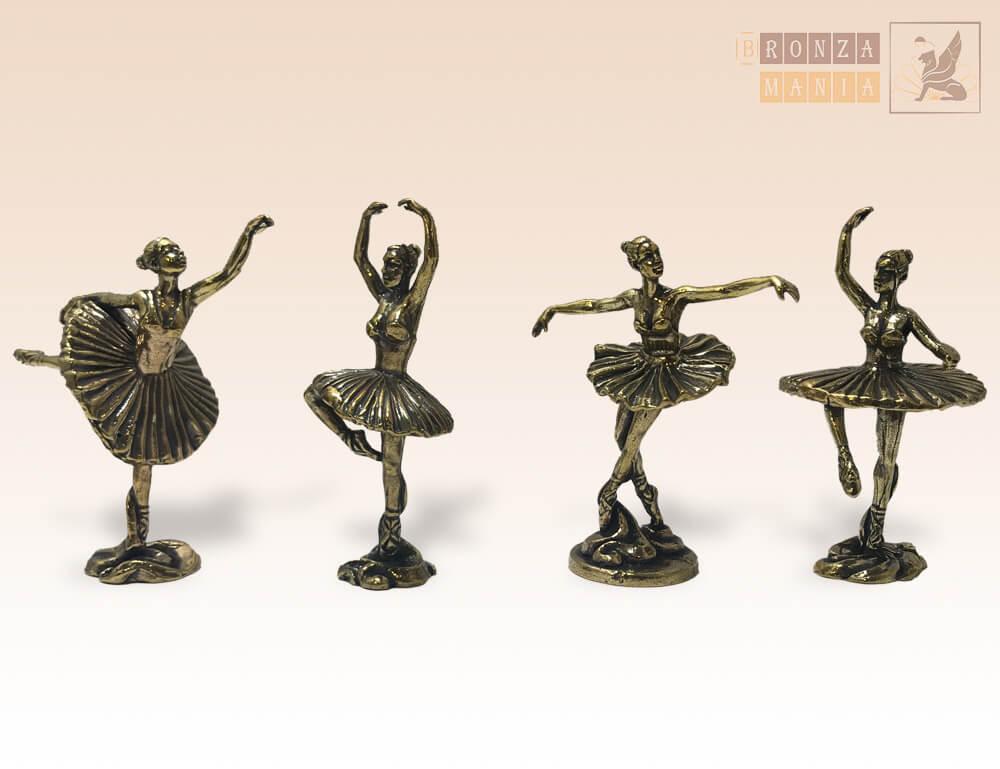 фигурка Балерин (комплект из 4 штук)