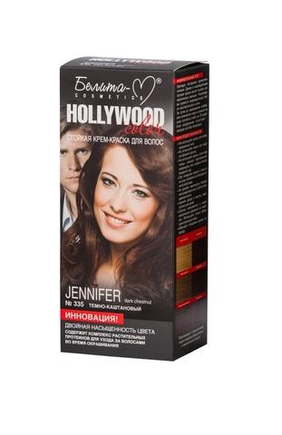 Белита-М Hollywood Color Крем краска 335 Дженифер (темно каштановый)