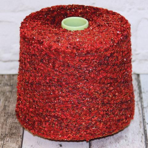 Фасонная пряжа с люрексом AVIA / ART 555 280 красный с золотом