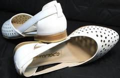 Босоножки летние туфли с перфорацией Evromoda 286.85 Summer White.