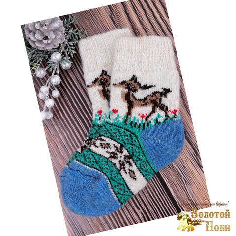 Носочки детские шерсть (3-4) 191015-Н-013