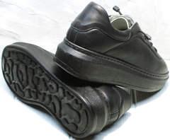 Черные осенние кроссовки кеды с черной подошвой Rozen M-520 All Black.