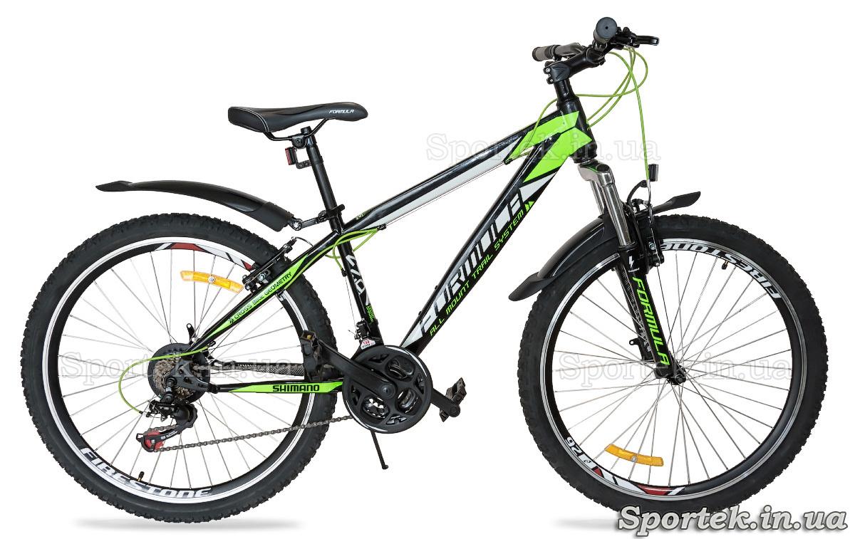 Городской велосипед Formula Nevada черно-зелено-белый